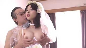 First wedding ceremony overnight with the use of Mao Hamasaki in stockings gets foul
