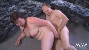 Oily granny along with excess titties making out hard cock hormones immersed