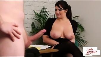 bigtitted britain voyeur aids her sub