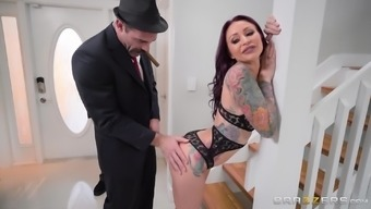 Monique Alexander cannot resist a handsome hunk's skillful contact