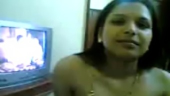 Attractive age indian girl exhibits of her fine tits and teasing on webcam