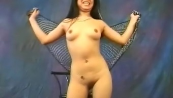 Cute Far eastern slut Miki Chan does some erotic, open performing arts