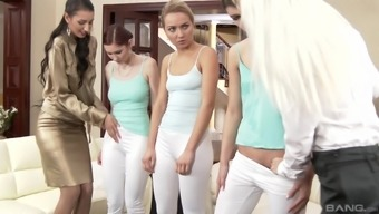 Kate Blonde and Victoria Puppy possess a smash within a wild lesbian orgy