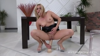 Crazy nymphomaniac Brittany Bardot is cycling her tremendously substantial dildo along with absolutely adore
