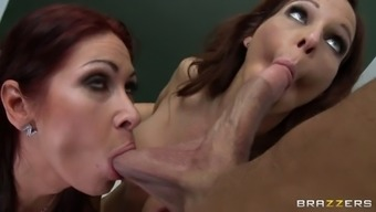 tiffany mynx and syren de mer making out his penis and golf balls