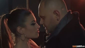 Ardent theater spiteful lady Julia Roca gives blowjob to the stage-manager