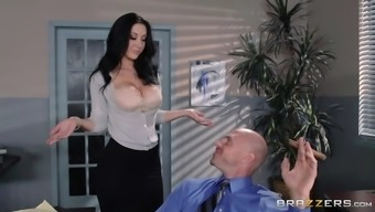 jayden jaymes whips out her titties and results in letting johnny worship those particular substantial boobs