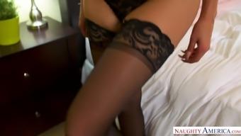 Large titties black MILF Nina Elle takes over - Wayward American
