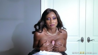 stone jackson stinks and tit fucks her perverted employee's substantial cock