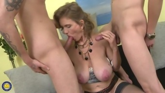 Kinky big tits fathers seduce young alpha the males
