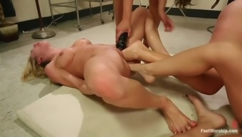 great leg fisting lesbian orgy with four spectacular whores