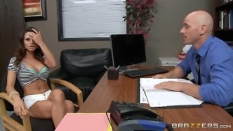 ashley sinclair kaput out her great titties in their boss' office