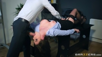 marie clarence kissing danny d's huge manhood in the office
