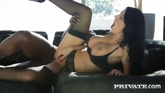 fascinating french milf ania kinski exhibits liking for great african-american penis