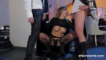 Energetic Tit Anna Polina Gets Several Tough DP