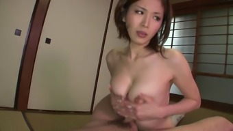 Sexy Oriental whore gets fucked by two males