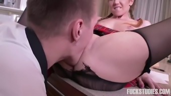 slender usrr seminary bones along with pigtails gets fucked by her your native language instruct