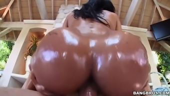 abby lee brazil gets oiled up and then fucked open air