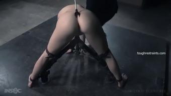 aria alexander gets dildo fucked in bdsm