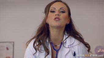 Beautiful health professional Tina anus ravished intense doggystyle