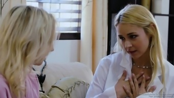 Heated physicians Sarah Vandella and Zoe Parker fuck each other complicated