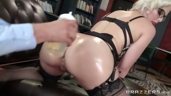 Wild person-in-charge ring fingers anus of delightful pale study and then your mouth fucks her hard