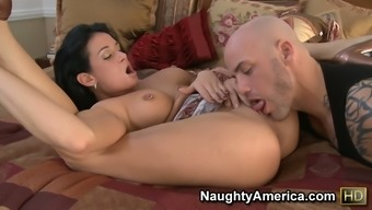 69 put with the use of Tory Lane conducting a immersed nose kissing and jumping linked to shaft
