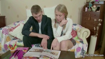 Mister Persuade Petite Step-Sister to effectively Fuck after Homework assignments
