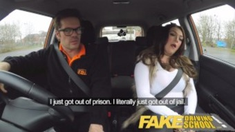 The fake counters School of motoring busty jailbird can take educator on any natural environment drive!