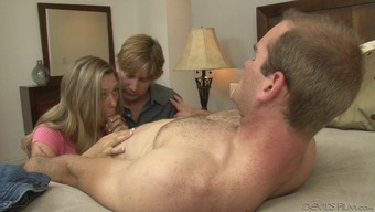 Lovely bisexual fucking along with a couple revealing a man