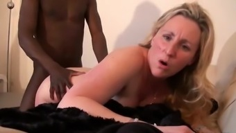 Sizzling milf and her little partner 36