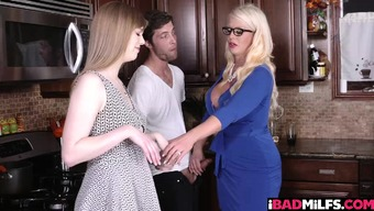 Major bad fats blond bad milf Alura Jensen normally takes control