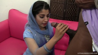 Gorgeous Indian hooker with a heated booty being intimate with a large transcend prick