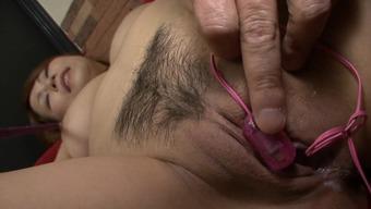 Japanese people mama interests youthful stud pleasing her vag