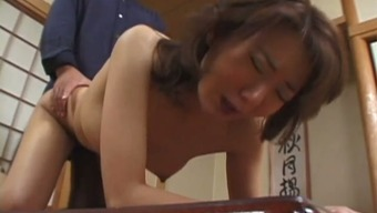 Mature Japanese people mum is generating banged pup design possessing a your mouth gag with her entrance