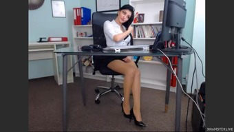 Gorgeous girl in their office