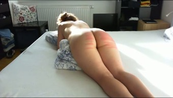 Perverted passive major bottomed companion of my partner got her bum spanked