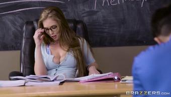 Lena Paul fucks student during exam
