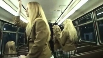 Coed Gives Handjob to some Perv inside a Train!