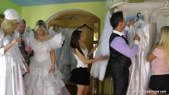 Notably perverted future bride succumbs to actually extreme fucking at the wearing your clothes area on her marriage event morning
