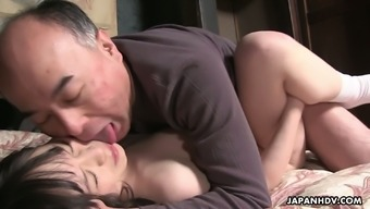 Mai Shimizu serves as a sizzling Asian nympho and she or he has an attention for more aged guys