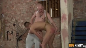 Tied up intercourse tool gets his nostril drilled