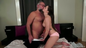 Angelina Brill serves as a sizzling little chick that desires dirty love-making by using old dudes