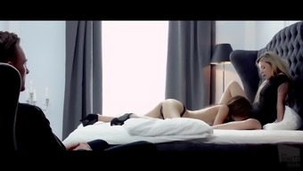 THE White colored BOXXX - Warm fairyland threesome by using sexy Latin american Candice Luca & Cherub Piaff