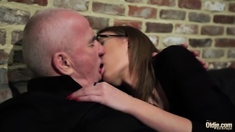 Grandpa gets cock sucked and stormy stunning little girl