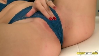 Fascinating blonde babe within the horny tits wear gets her clipped pussy touched in that case drilled intense util maximum