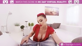 vr porn-busty aletta coastline get exploded and titty fuck along with a