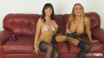 alana sail and britney amber enjoy a sensational replica toy in sex animals