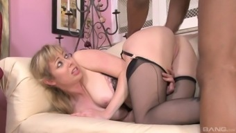 Palpitating pornstars getting exotic with an intimate sexual interracial performance