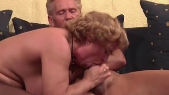 Grandma in Stockings hard fucked by Grand father